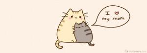 love my mom hugging kitties Facebook Covers for FB Timeline