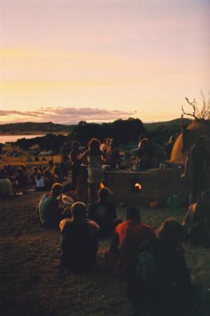 camp, camping, fire, friends, lake, sunset