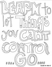 Learn to let things you can't control, go.