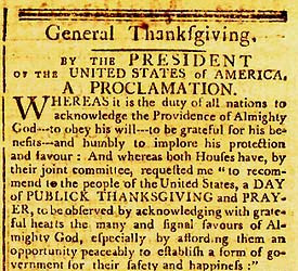 Abraham Lincoln's 1863 Thanksgiving Proclamation