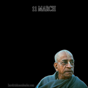 Srila Prabhupada Quotes For Month March 11