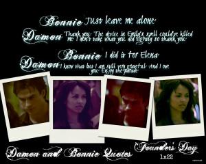 Damon & Bonnie Damon and Bonnie Quotes: Season One 1x22 Founder's Day