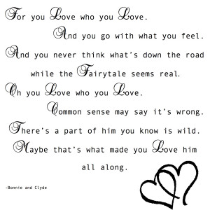 Love Like Bonnie And Clyde Quotes Bonnie and Clyde Love Quotes