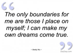 the only boundaries for me are those i