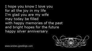 Wedding Anniversary Quotes For Husband ~ Quotes for 25th wedding ...