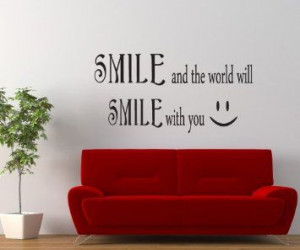 Amazon.com: Vinyl Wall Decal Sticker Smile Smile Quote #GFoster183s ...