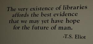 TS Eliot quote at Harold Washington Library by Steve Rhodes, via ...