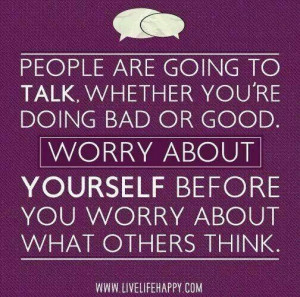 Putting yourself first.....