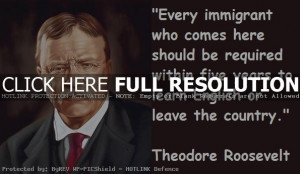 theodore roosevelt, quotes, sayings, learn english, immigrant