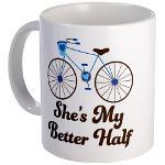 She's My Better Half Quote Mens Bike Design Baseba