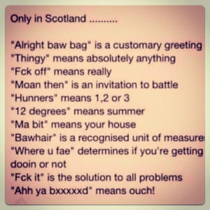 Famous Scottish Sayings