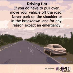 Driving tip: pulling over safely on the motorway or hard shoulder