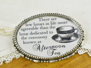 Henry James Tea Quotes Brooch - Literary Jewelry for Tea Lovers ...