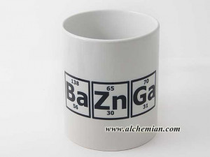 Bazinga! Sheldon Cooper quote, periodic table, mug