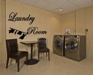 Details about Laundry Room Vinyl Wall Art Sticker Quotes Decal Sticker ...