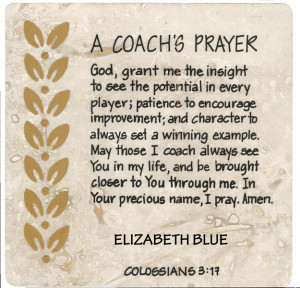 Coach's Prayer