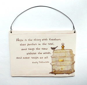 ... . Quote . Wall Plaque . Inspirational poetry . Bird cage . Blue bird