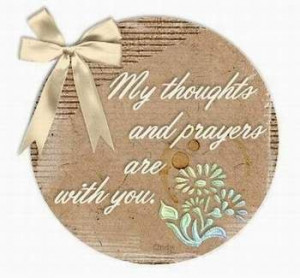 My Thoughts and Prayers – Sympathy Cards