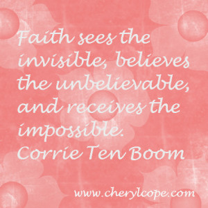 Christian Quotes About Faith Quote on faith by corrie ten
