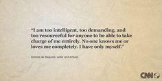 Historical Literary Quotes, Intelligence Quotes Women, Quotes Simon De ...