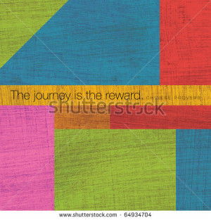 Modern Art Collage with Quotations - stock photo