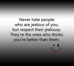 Related Pictures bitch hate hater jealousy quote quotes poem poems