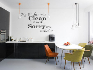 Kitchen Was Clean Funny Dining Room Quote Wall Art Decal Sticker