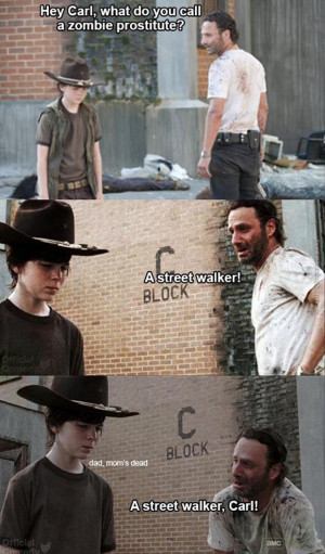 Rick Grimes is trying to be funny