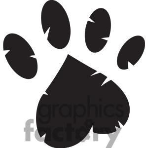 Related Pictures panther paw print clip art