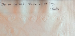 Dying Father Napkin Quote