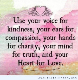 Use your voice for kindness