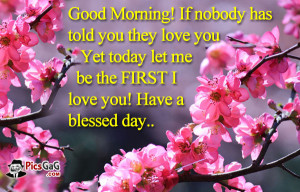 Good Morning Love Quote Picture and Morning SMS To Say I Love You.