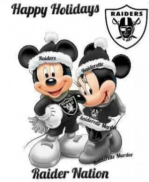 Raider Nation, Mickey Style!! : )