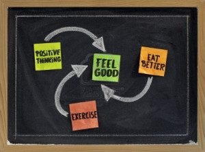 7543888-positive-thinking-exercise-eat-better--concept-of-feeling-good ...