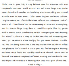 love quote by bob marley only once in your life i truly believe you