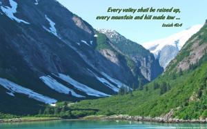 Isaiah 40:4 – Power of God Papel de Parede Imagem