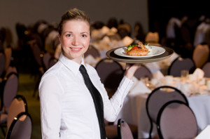 Picture of a waitress