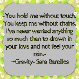 Sara Bareilles- Gravity