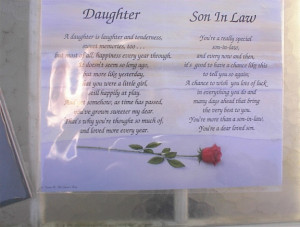 Son In Law Poems Daughter and son-inlaw poem