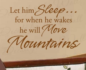 Let Him Sleep Nursery Baby's Room Wall Decal Quote