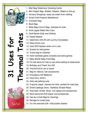 Thirty One Bag Ideas | 31 Uses for Thermal Totes. Mythirtyone.com ...