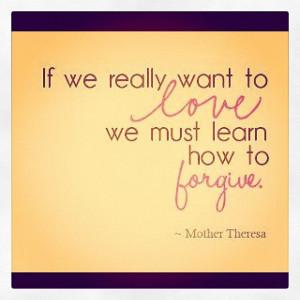 love & #forgiveness