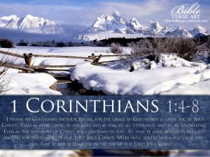 Corinthians 1:4-8 – Papel de Parede Imagem