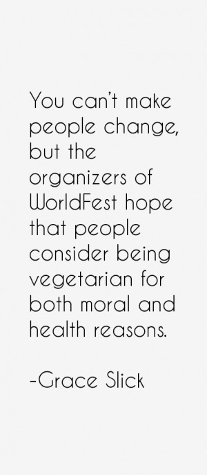You can't make people change, but the organizers of WorldFest hope ...