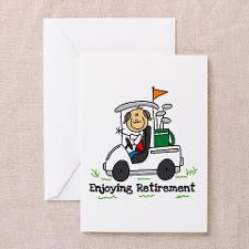 Retired and Golfing Greeting Card for