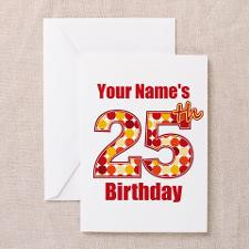 25th Birthday Grunge - Personalized! Greeting Card