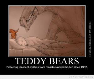 Teddy bears are heroes