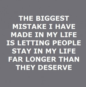 Biggest mistake...