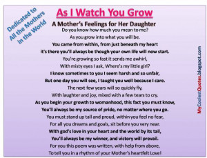 mothers love quotes for her daughter a mothers love