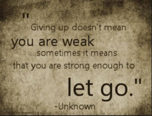 Giving up...